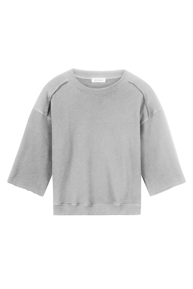 Alchemist Poppy Sweat Light Grey Melange trui | Sophie Stone