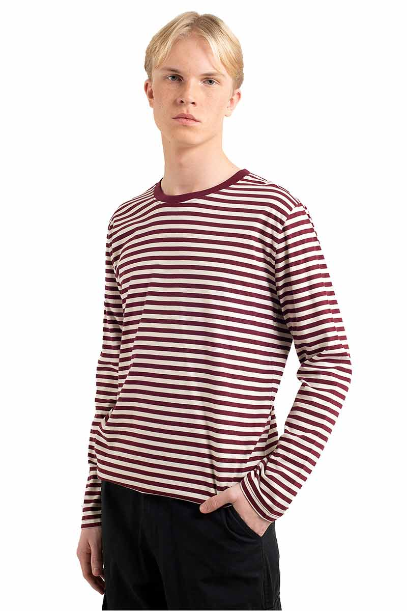 Dedicated Hasle Stripes Burgundy | Sophie StoneDedicated Hasle Stripes Burgundy | Sophie Stone