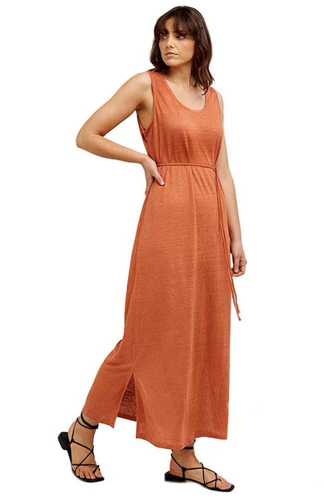 People Tree Arden maxi dress bio linnen | Sophie Stone