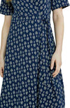 People Tree Riya wrapjurk navy print | Sophie Stone
