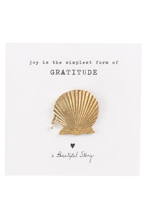 A Beautiful Story Pearl Shell broche | Sophie Stone