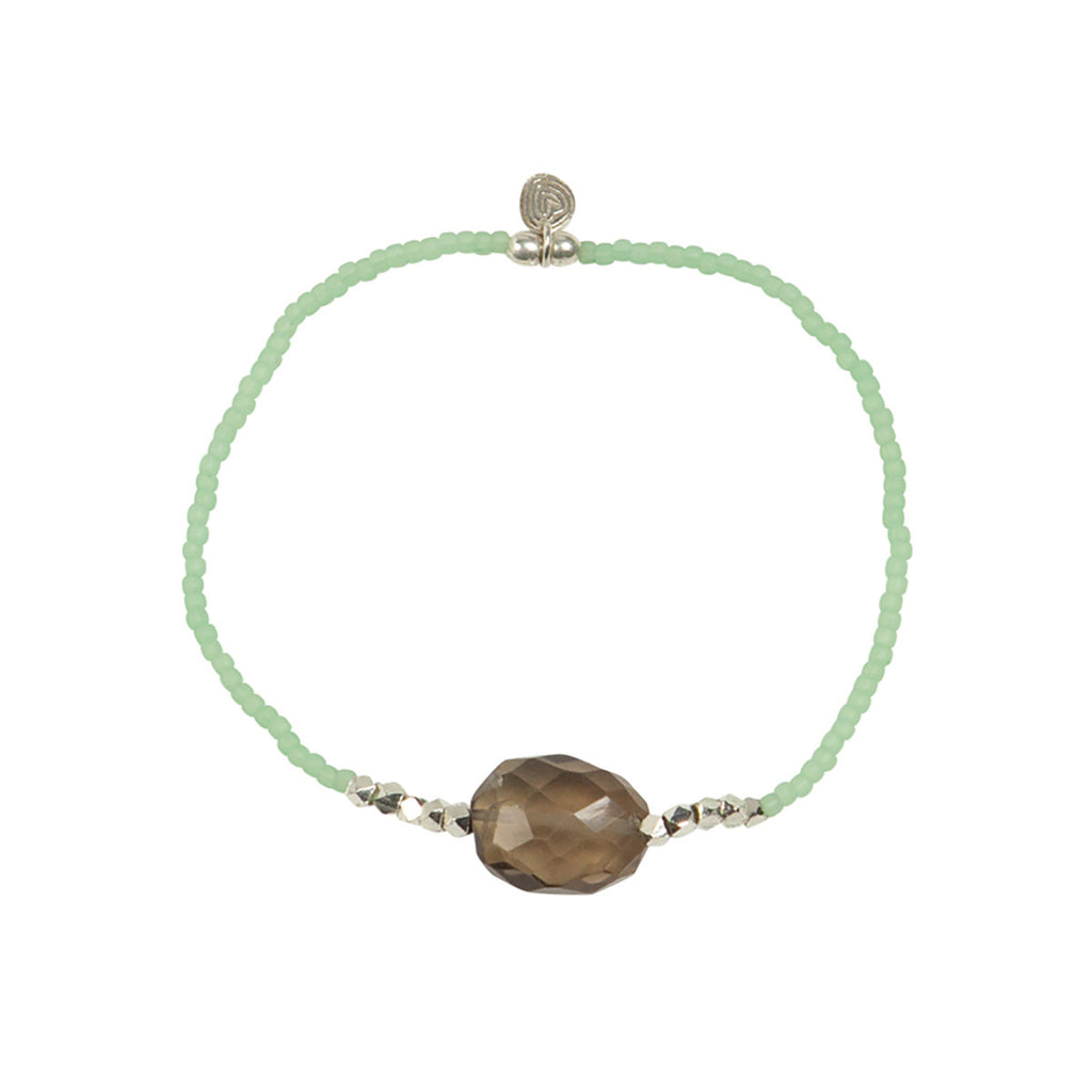 A Beautiful Story Joy Smokey Quartz silver armband | Sophie Stone