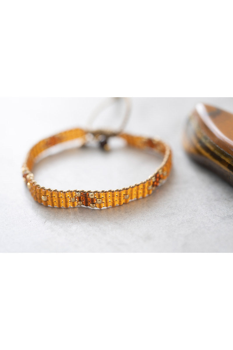 A Beautiful Story Summerlight Tiger Eye Gold armband | Sophie Stone