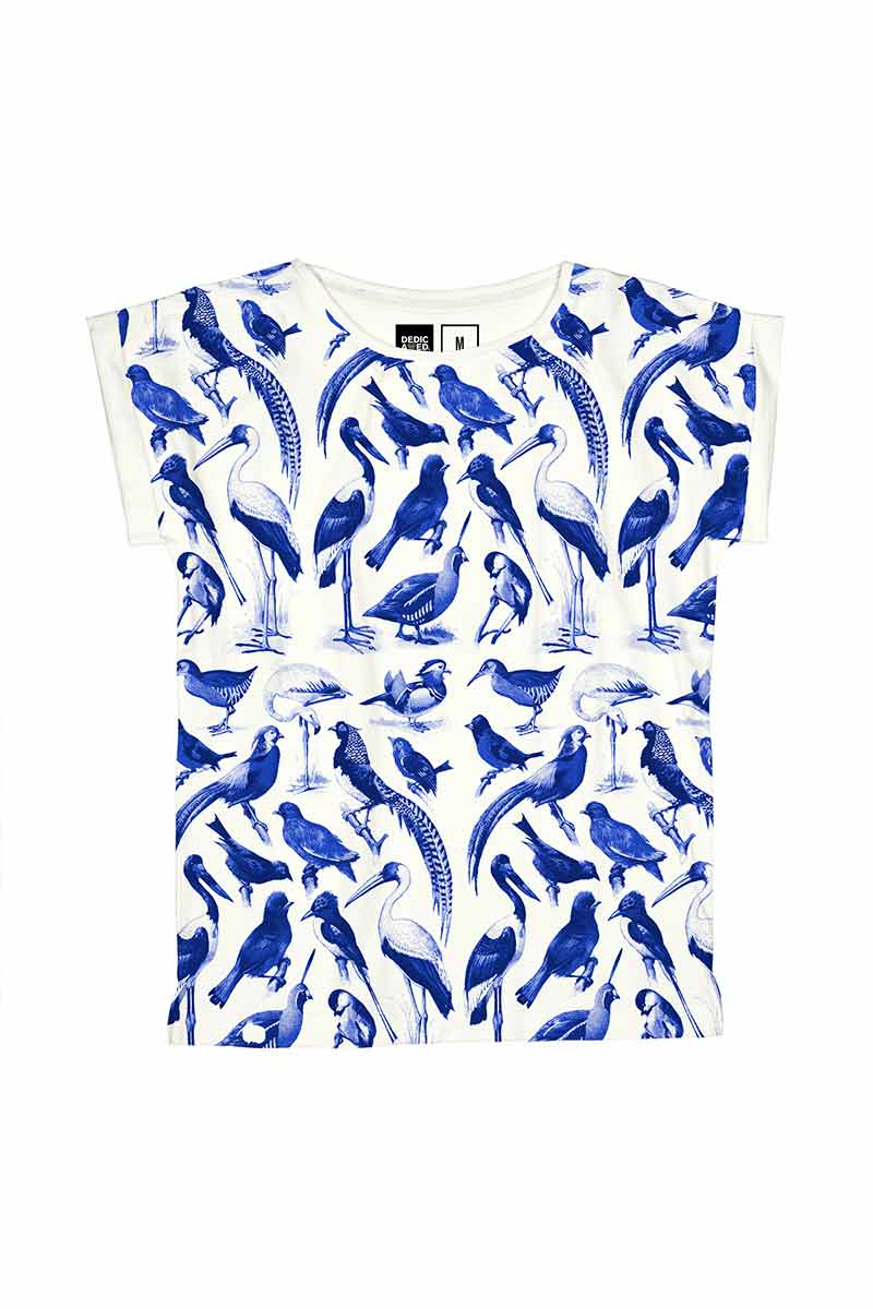Dedicated t-shirt Visby Blue Birds | Sophie Stone