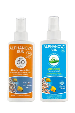 DUO PACK Zonnebrandspray SPF50 + AFTER SUN Alphanova | Sophie Stone