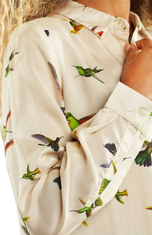 Dedicated Dorothea Hummingbirds off-white blouse | Sophie Stone