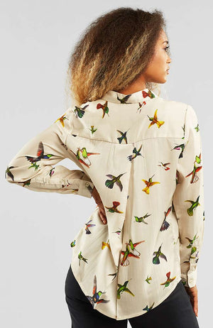 Dedicated Dorothea Hummingbirds off-white | Sophie Stone
