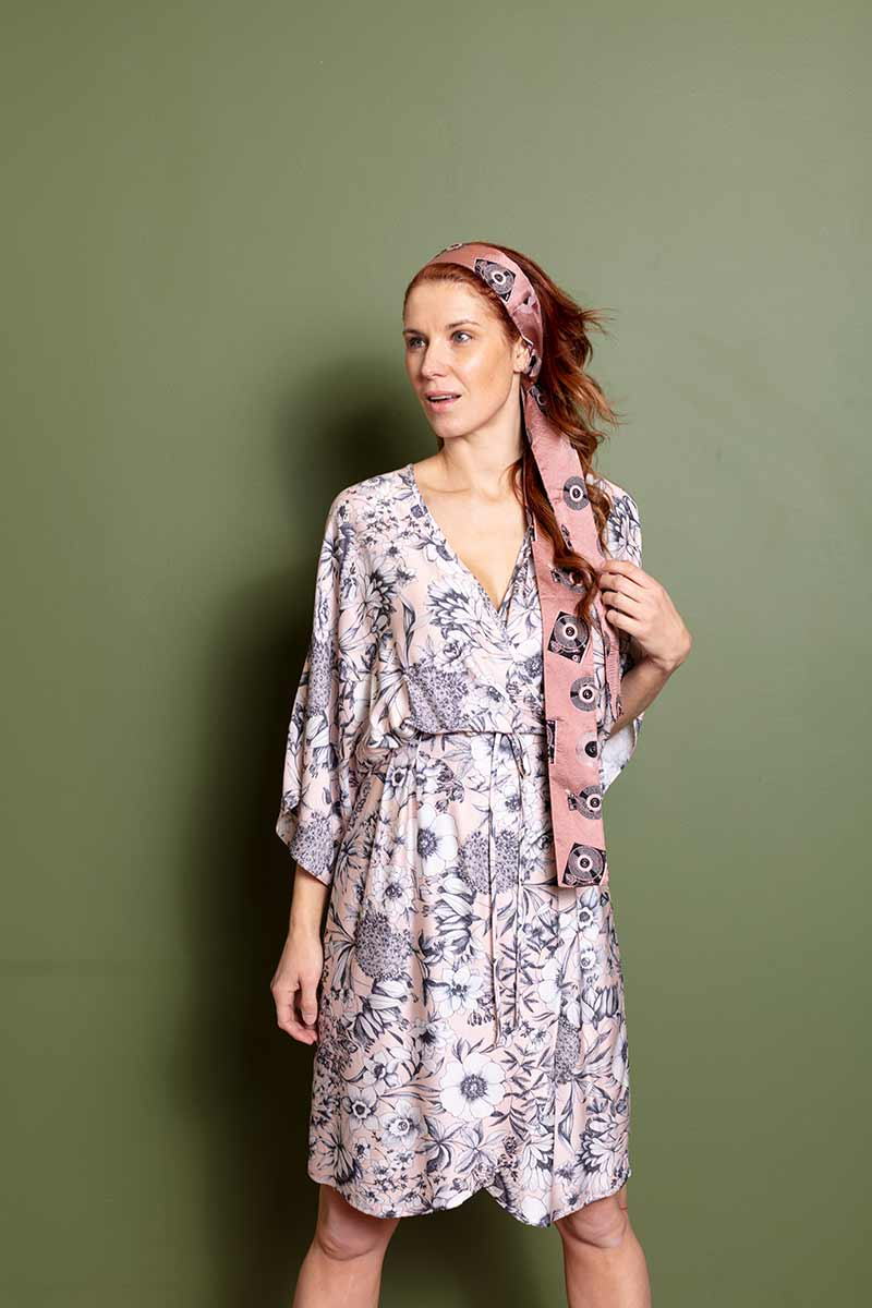 Wasted Atelier Fay pink flower jurk repurpose | Sophie Stone