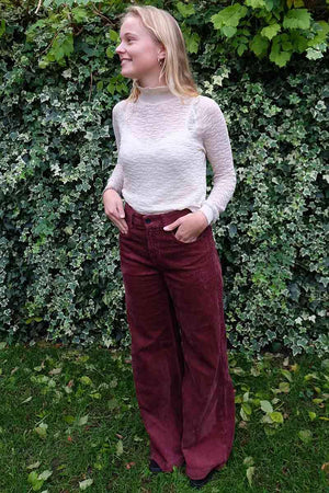 Kings of Indigo Jane Rust corduroy broek | Sophie Stone