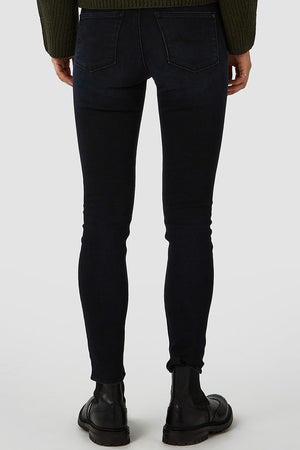 Kings of Indigo Juno high blue black worn jeans bio katoen | Sophie Stone
