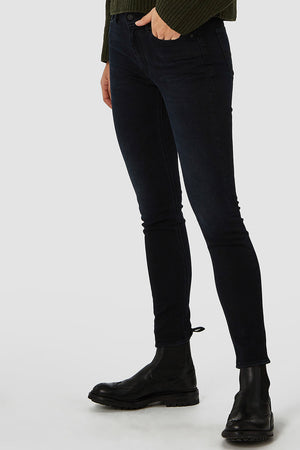 Kings of Indigo Juno high blue black vegan jeans | Sophie Stone