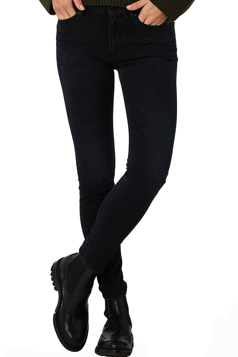 Kings of Indigo Juno high blue black worn jeans | Sophie Stone