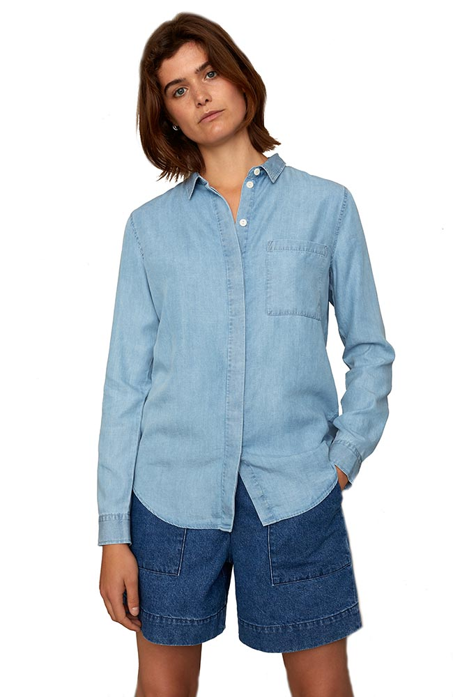 Kings of Indigo Taja Chambray Tencel | Sophie Stone