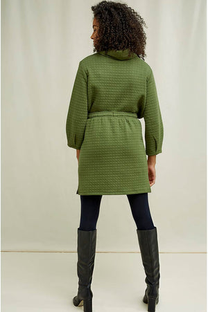 People Tree Lia quilted skirt green | Sophie Stone
