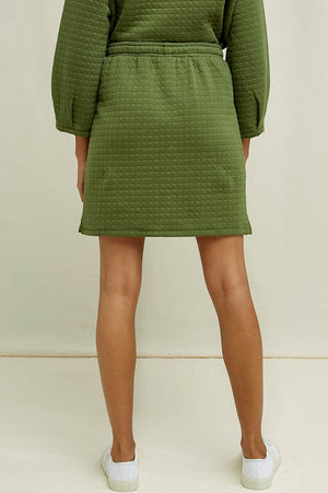 People Tree Lia quilted skirt groen | Sophie Stone
