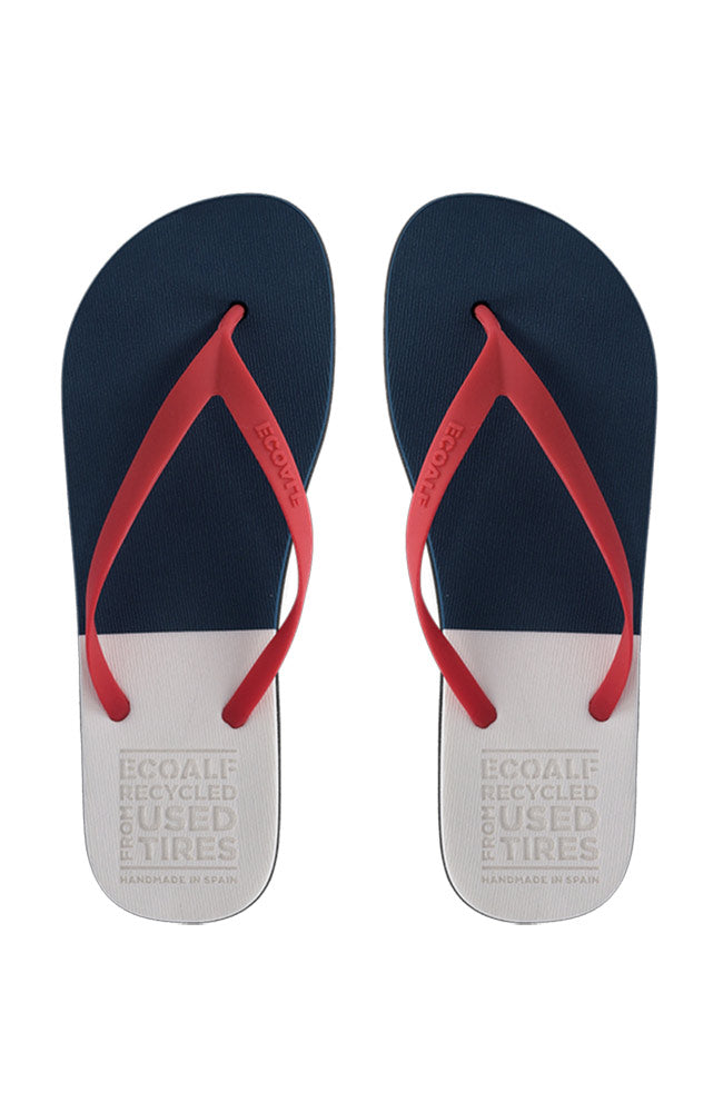 Ecoalf Slippers Bicolor Men Navy | Sophie Stone