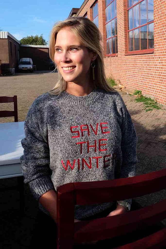 Thinking MU Save The Winter sweater | Sophie Stone