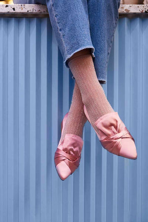 Swedish Stockings Stella shimmering socks pink | Sophie Stone