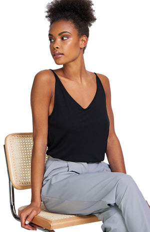 Jan 'n June Slip top triangle black | Sophie Stone