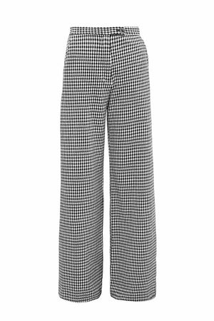 Jan 'n June wide pants Tonala Check zwart wit | Sophie Stone