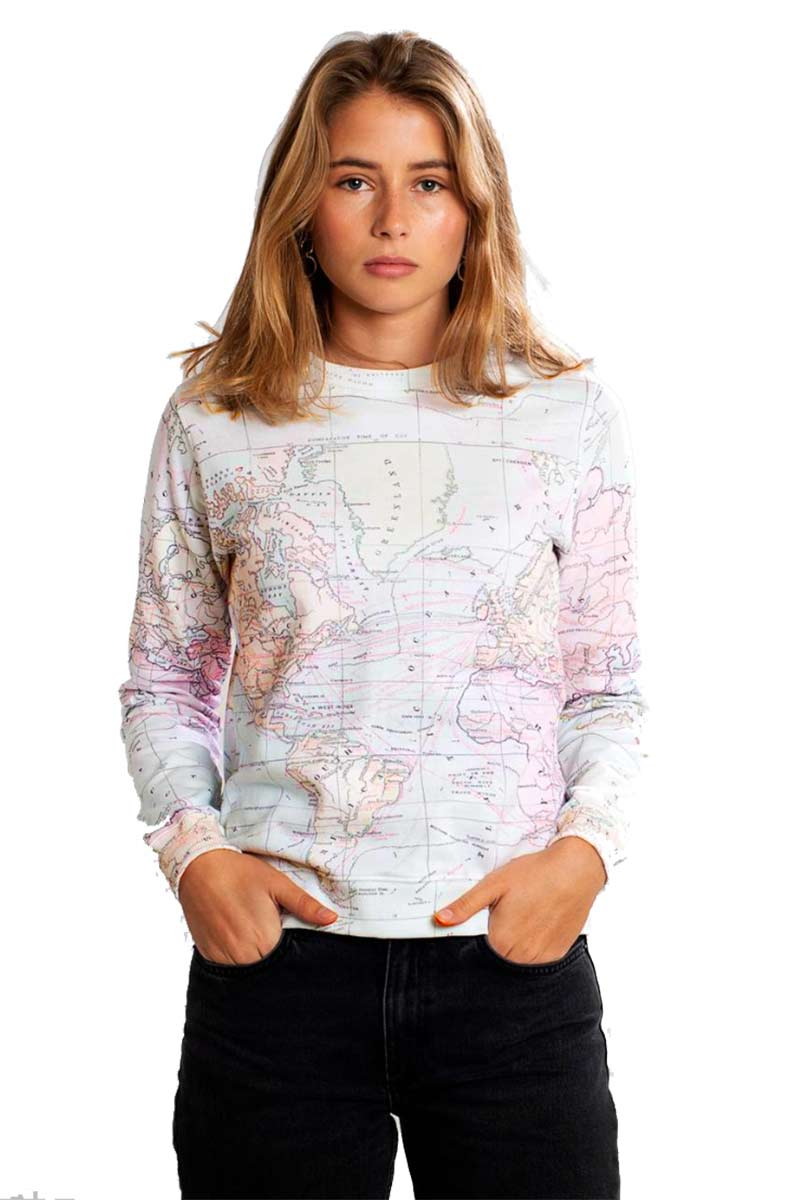Dedicated Ystad Map sweatshirt | Sophie Stone