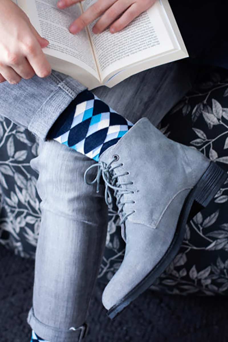 SexySocks Mosaic Blue Diamonds | Sophie Stone