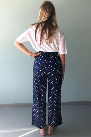 Wasted Atelier broek Dots navy | Sophie Stone