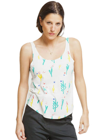 Thinking MU Flowers White Pol shirt | Sophie Stone