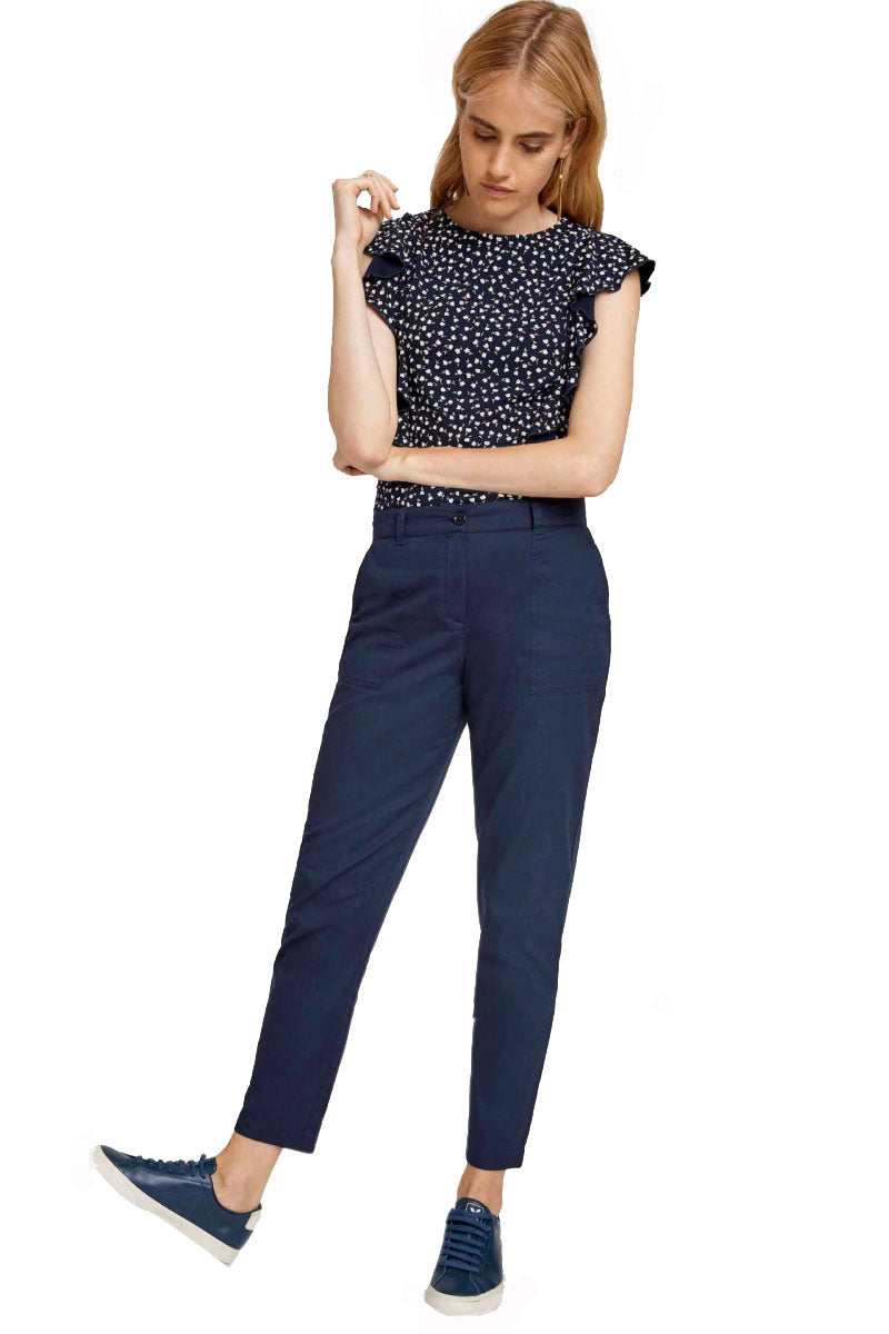 People Tree Claudia Navy Trousers | Sophie Stone