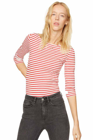ArmedAngels Darja Bow stripes red | Sophie Stone