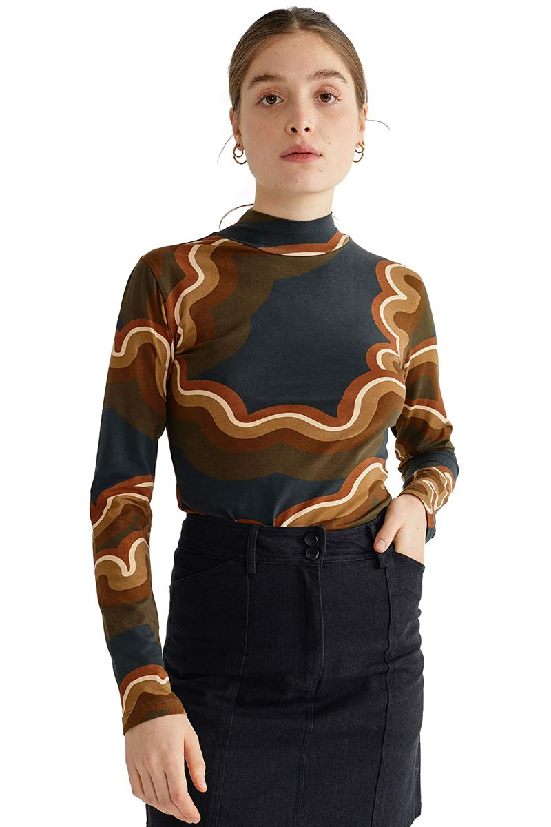 ThinkingMU Ellen Psychedelic top | Sophie Stone