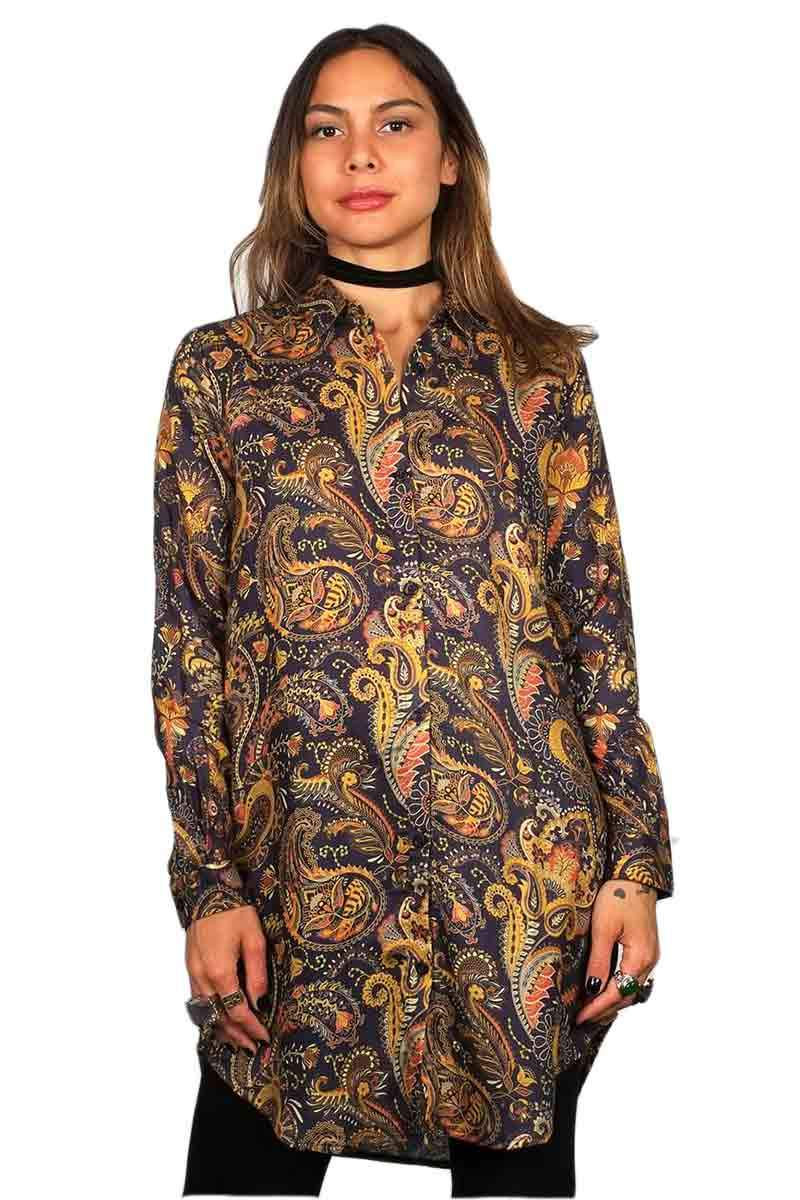Dedicated Fredericia Bold Paisley Navy blouse | Sophie Stone