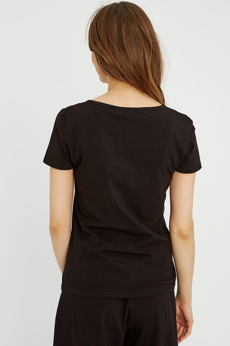 People Tree Gaia basic Tee zwart | Sophie Stone