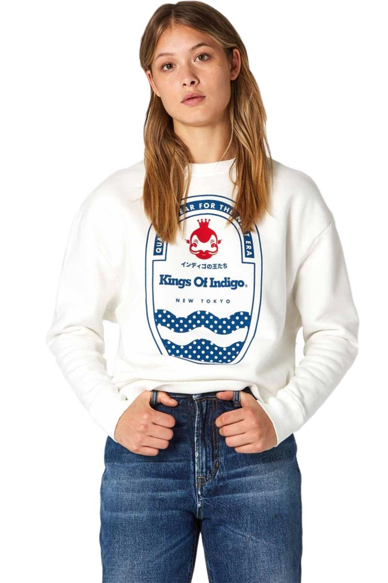 Kings of Indigo Idilika sweatshirt off white | Sophie Stone