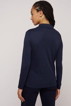 People Tree Isabel Tie Top navy | Sophie Stone