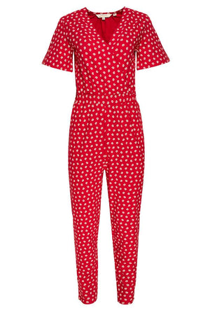People Tree Isabella red jumpsuit | Sophie Stone