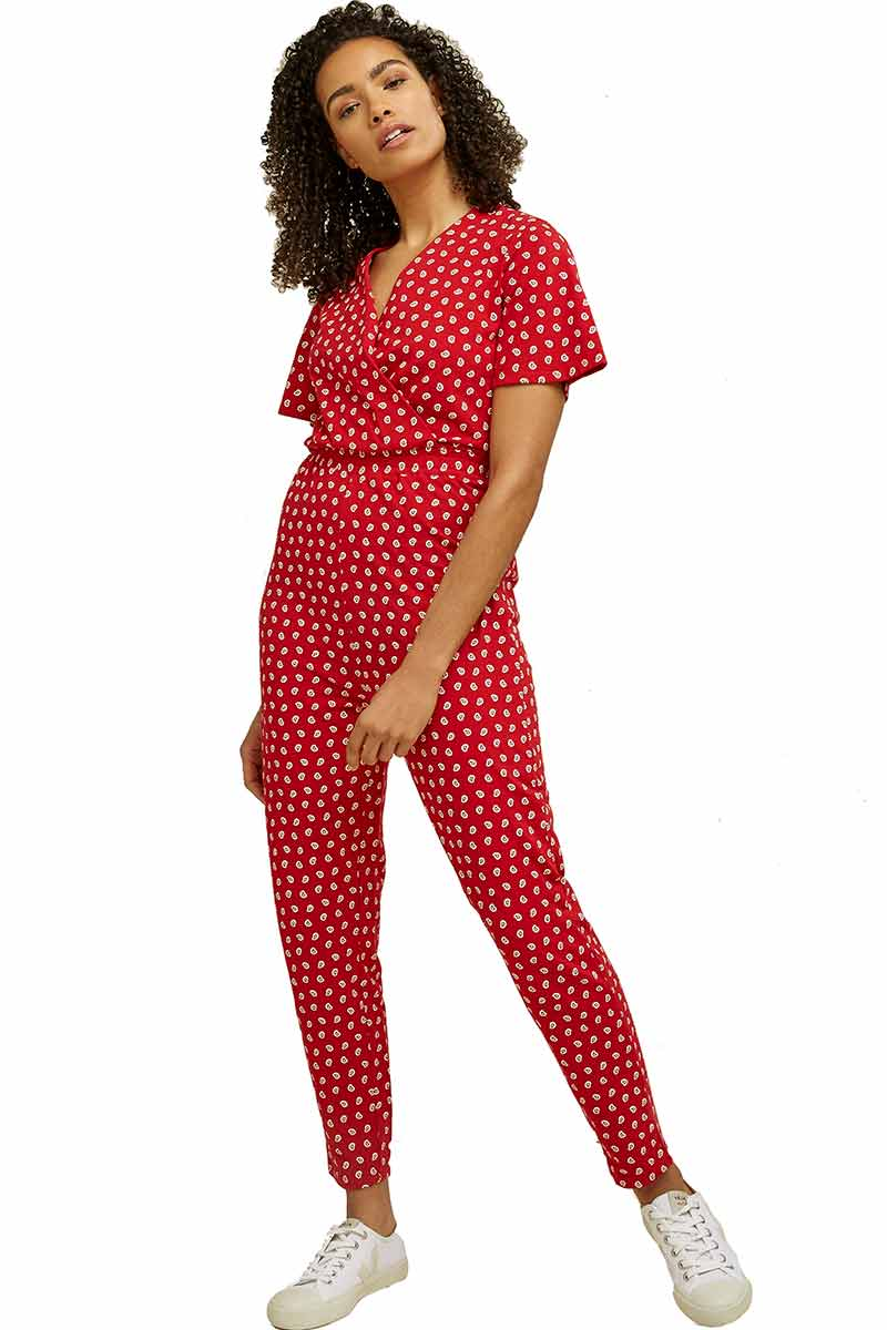 People Tree Isabella Paisley red jumpsuit | Sophie Stone