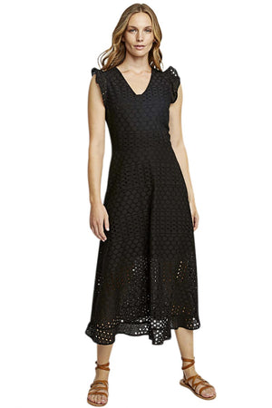 People Tree Jessica broderie dress black | Sophie Stone