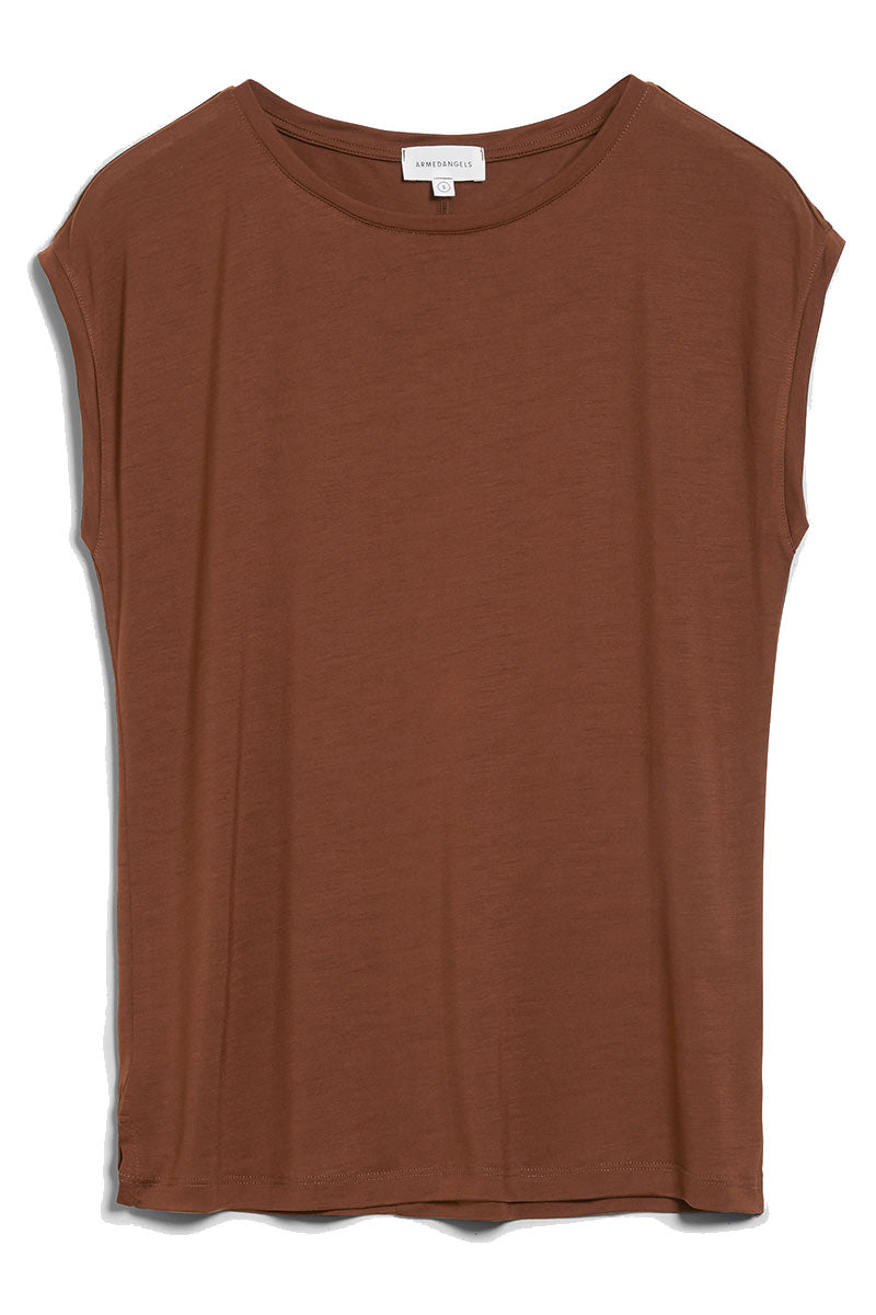 ARMEDANGELS Jilaa Cacao bruin t t-shirt | Sophie Stone