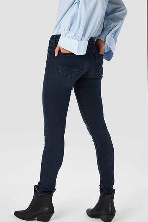 Kings of Indigo Juno mid Dark OD Black jeans | Sophie Stone