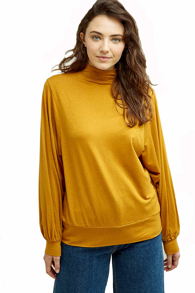 People Tree Karena top mustard  | Sophie Stone