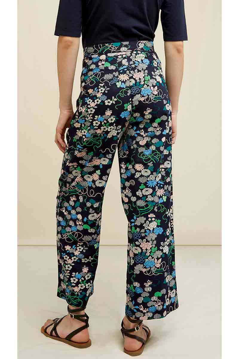 People Tree V&A Kimono Floral Print Trousers | Sophie Stone