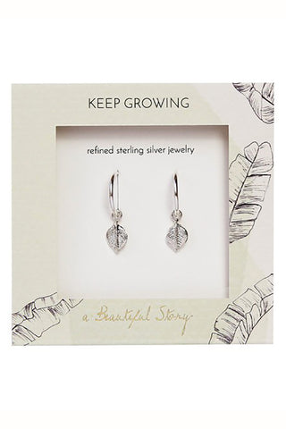 Leaf earrings silver