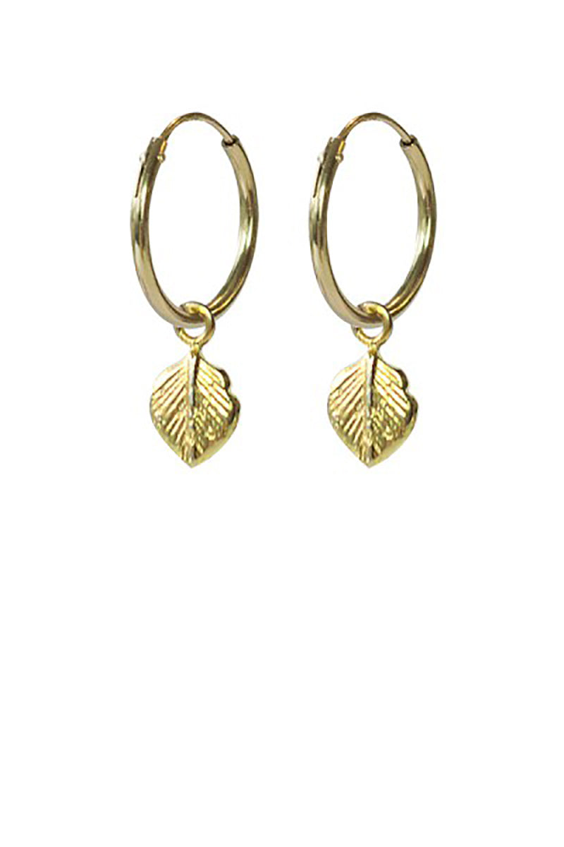 A Beautiful Story Leaf silver goldplated earrings | Sophie Stone