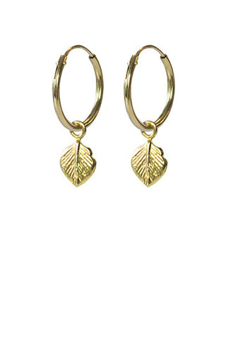 Leaf earrings gold