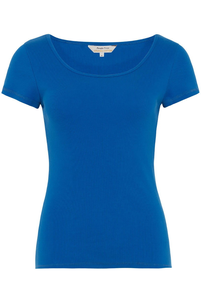 People Tree Mabel shirt blauw | Sophie Stone