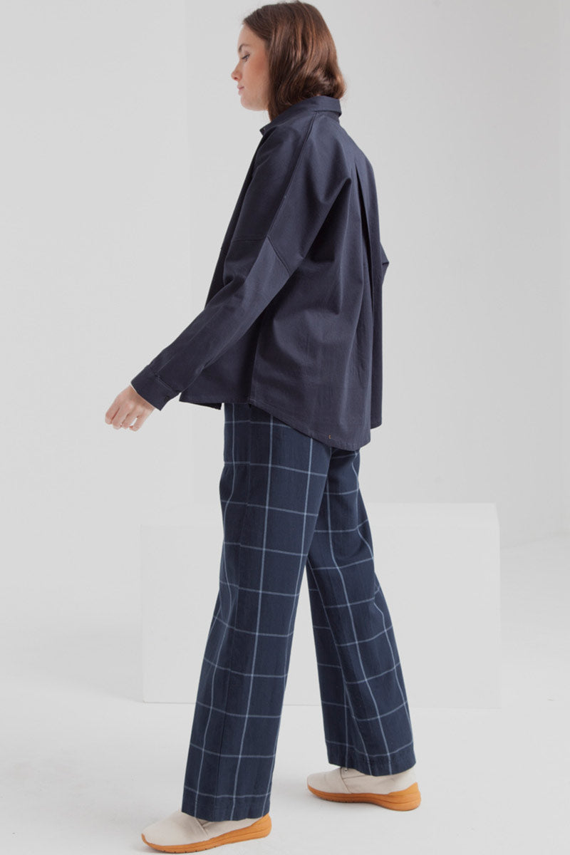 ThinkingMU Blue Checks Mamita pants | Sophie Stone