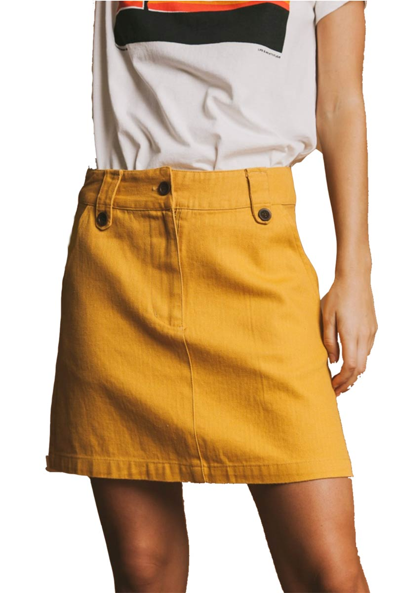 Thinking MU Short Skirt mosterd | Sophie Stone