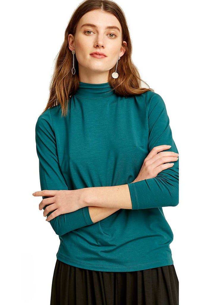 People Tree Marylou Top Turquoise | Sophie Stone