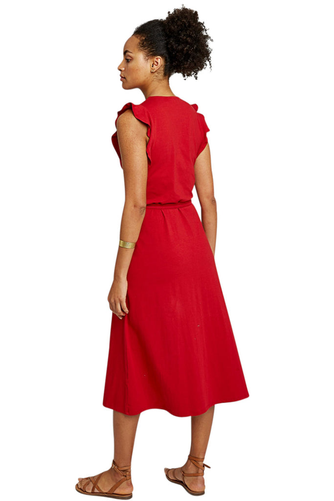 People Tree Melanie wrap dress red | Sophie Stone